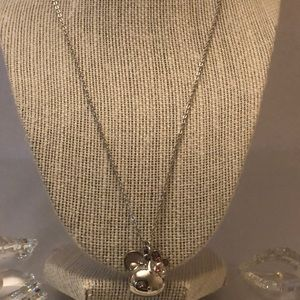 Vintage Hello kitty double pendant and chain